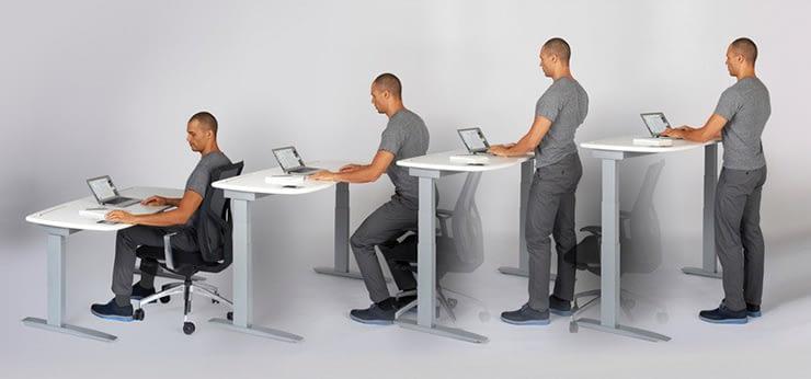 Beneficios de trabajar parado o sentado mejora la salud y quita el estres 1